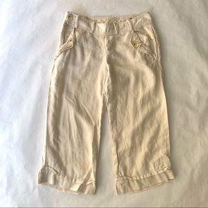 Banana Republic linen cropped capri pants - size 2